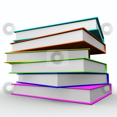 Books stock photo, Colorful books by HII CHANG LING