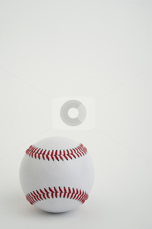 Lone Baseball stock photo, Close-up image of a single baseball by Greg Blomberg