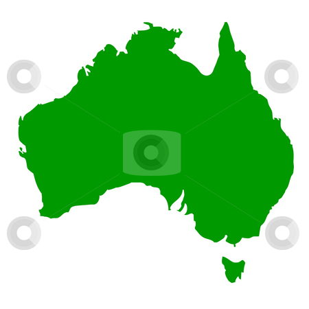 Australia stock photo, Map of Australia, isolated on white background. by Martin Crowdy