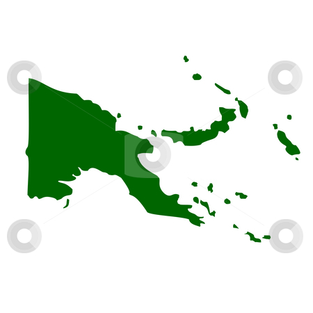 Papa New Guinea stock photo, Map of Papa New Guinea, isolated on white background. by Martin Crowdy