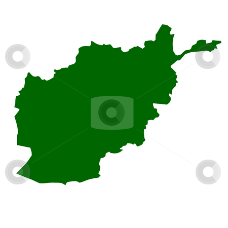Afghanistan stock photo, Afghanistan map isolated on white background. by Martin Crowdy