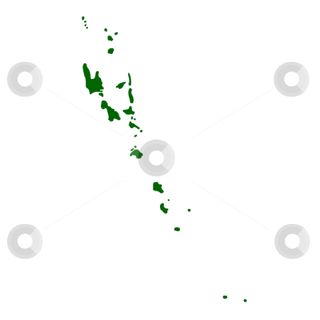 Vanuatu Islands stock photo, Map of Vanuatu islands, isolated on white background. by Martin Crowdy
