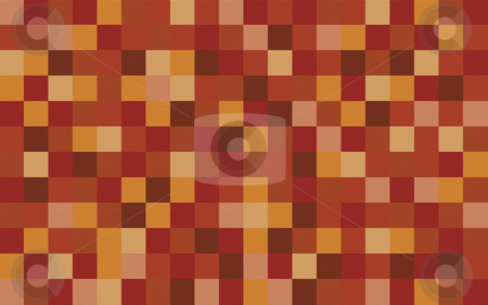 Checked Autumn background stock photo, A textured background of squares in a matrix of autumn colours by Stephen Gibson