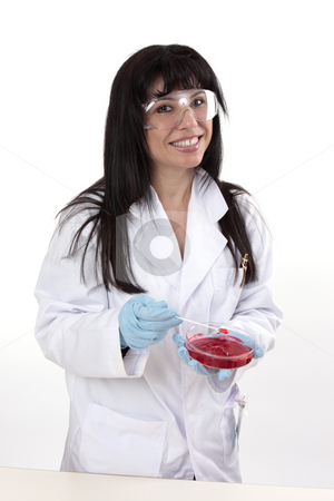 Female in laboratory stock photo, Female scientist or biologist in the laboratory by Leah-Anne Thompson