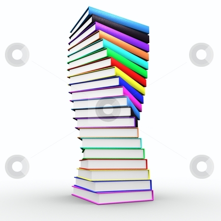 Spiral books stock photo, Nice spiral of books looks like trophy by HII CHANG LING