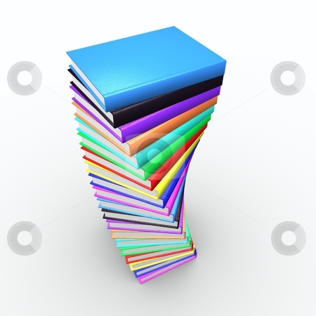 Book top stock photo, Nice spiral of books view from top by HII CHANG LING