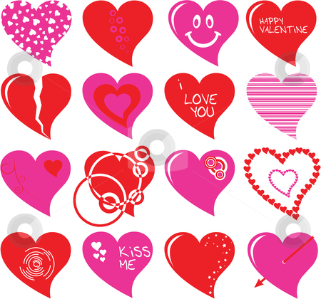 Heart set stock vector clipart, Heart set by Vadim Pats