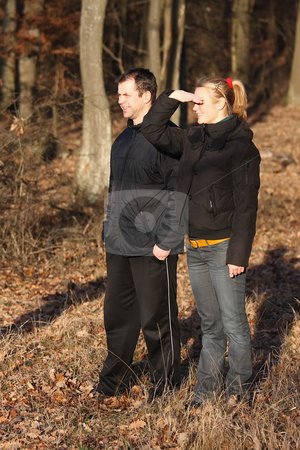 Excursion stock photo, A family excursion useful, if you have binoculars by ARPAD RADOCZY