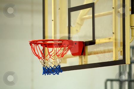 Backboard stock photo, A close up view of the backboard of basketball by Tito Wong