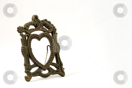 Antique photo frame stock photo, The antique photo frame isolated over white by Tito Wong
