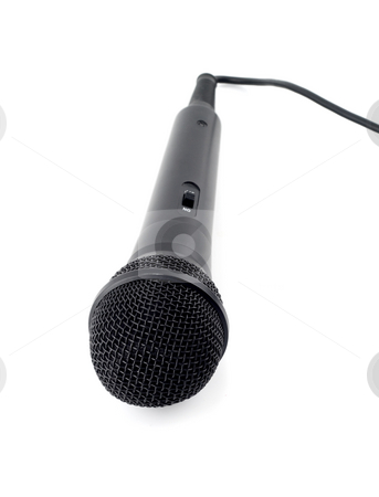 Dynamic mic  stock photo, Dynamic mic karaoke isolated on white background by Vladyslav Danilin