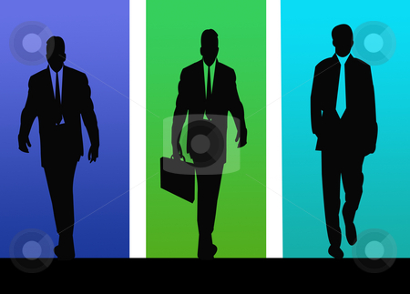 Business Men stock photo, Colorful illustration of business men dressed for the office by CHERYL LAFOND