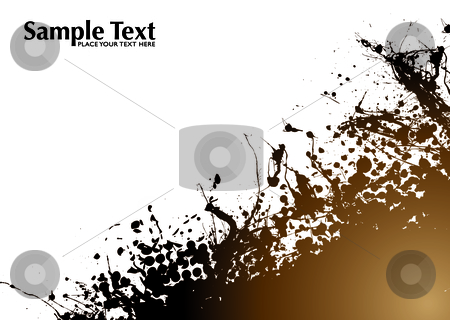Brown grunge background stock vector clipart, Brown and black grunge abstract background with room to add text by Michael Travers