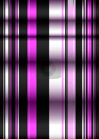 Pink n black blind stock vector clipart, Modern style blind showing creases in the material and shadows by Michael Travers