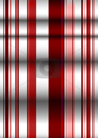 Red ripple ribbon background stock vector clipart, Shades of red ripple background with ribbon effect and shadows by Michael Travers