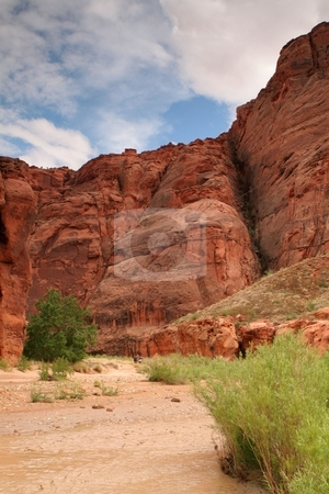 Desert scenery stock photo, Red rock cliffs in southern Utah by Greg Peterson