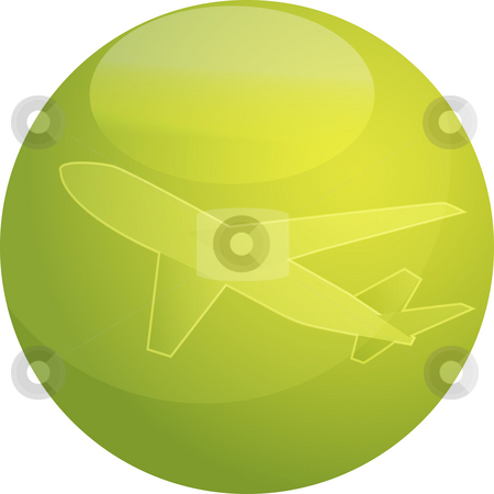 Air travel airplane illustration stock photo, Illustration of an airplane abstract design showing air travel by Kheng Guan Toh