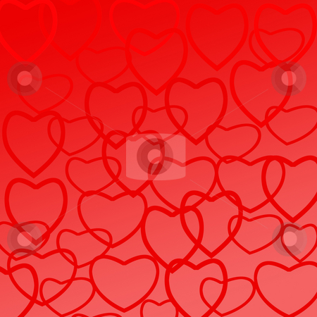 Background with hearts stock photo, Background with hearts for romantical events, like valentine's day by Olga Lipatova