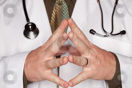 Doctor with Stethoscope Making Hand Gestures stock photo, Doctor with Stethoscope Making Some Hand Gestures. by Andy Dean