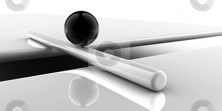Solution stock photo, A black sphere conquers a problem, as concept for solution by Alexander Zschach