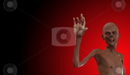 Zombie With Bad Teeth stock photo, A horrible looking zombie with bad teeth. by Chris Harvey