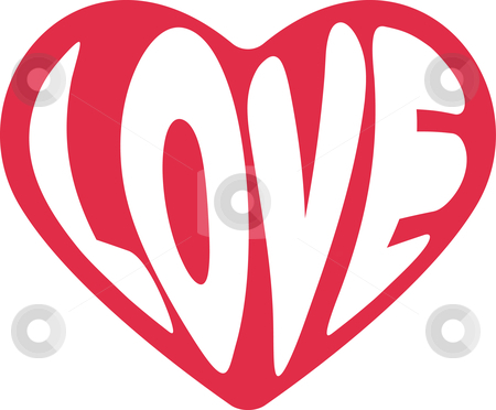 Valentines Hearts on Heart For Valentines Day Stock Vector Clipart  Cute Decorative Heart