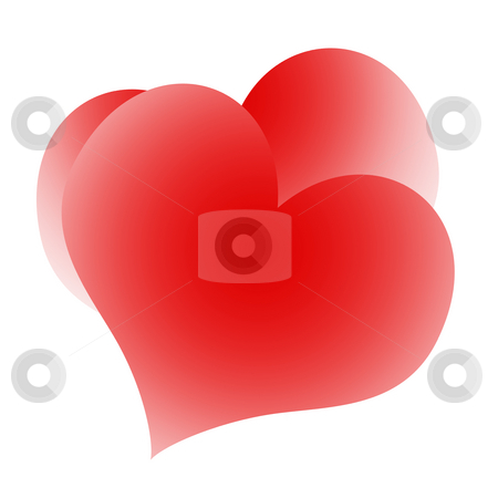 Kissing hearts stock photo, Kissing hearts love couple isolated over white background by Skovoroda