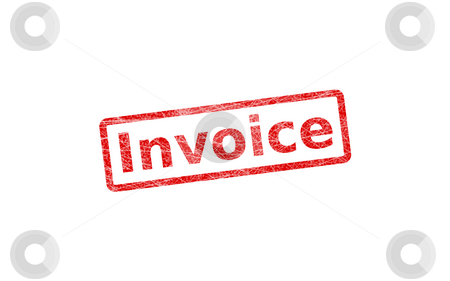 Invoice Stamp stock photo, Invoice stamp, isolated over white background by Andre Janssen