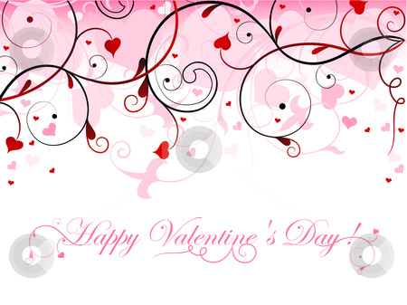 Beautiful valentine card stock vector clipart,  by Vitaliya Piliuhina