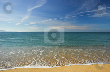 Beautiful beach stock photo, Beach landscape in a beautiful day by ikostudio