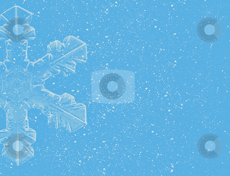 Lite Blue Snowflakes on blue background stock photo, Lite Blue Snowflakes on blue background by Melissa King