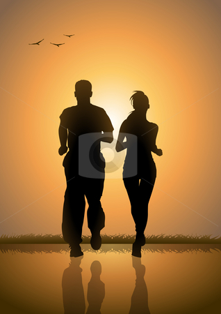 Sunrise Jogging stock photo,  by Rudolf Iskandar