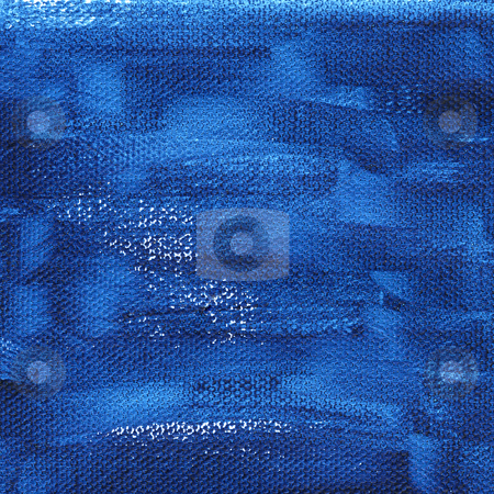 Dark blue painted background with canvas texture stock photo, Rough dark blue  watercolor abstract on artist canvas, self made by photographer by Marek Uliasz