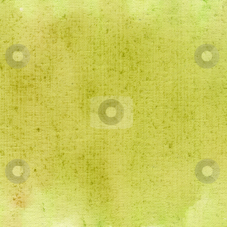 Light green  watercolor abstract with canvas texture stock photo, Light green and yellow watercolor abstract on white cotton artist canvas, self made by photographer by Marek Uliasz