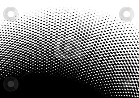 Black halftone abstract image stock vector clipart, Black and white halftone abstract images with room to add text by Michael Travers