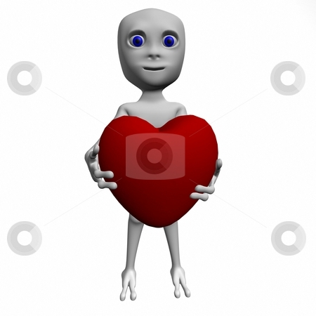 The person holds heart stock photo, The fantastic person has control over heart by Belyy Dmytro