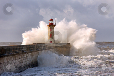 Lighthouse, Foz do Douro, Portugal stock photo, Lighthouse in Foz of Douro, Portugal by Jorge Casais