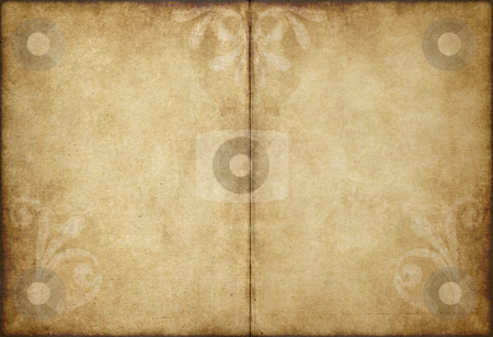 Old parchment paper stock photo, Great image of old and worn parchment paper by Phil Morley