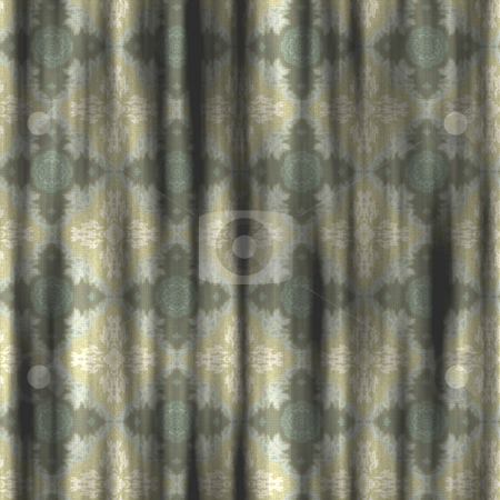 Old curtains stock photo, Great image of old grungy retro curtains by Phil Morley