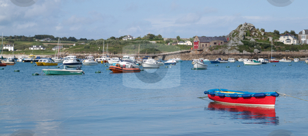 Boats in St. Mary's harbour, Isles of Scilly, Cornwall UK. stock photo, Boats in St. Mary's harbour, Isles of Scilly, Cornwall UK. by Stephen Rees