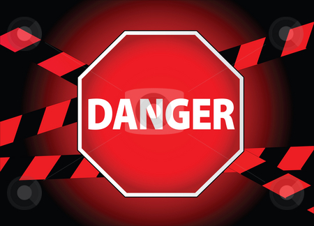 Danger sign stock photo,  by Tomas Marek