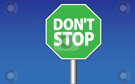 Dont stop traffic sign stock vector clipart,  by Tomas Marek