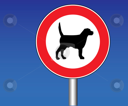 No dogs stock vector clipart,  by Tomas Marek