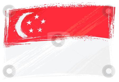 Grunge Singapore flag