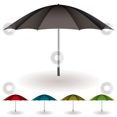 Umbrella colorful collection stock vector clipart, Umbrella collection to protect you from the rain with color variation by Michael Travers