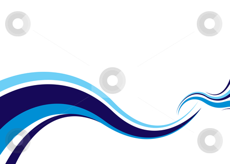 Modern ocean surf stock vector clipart, Abstract modern ocean wave ideal surf image with space for text by Michael Travers