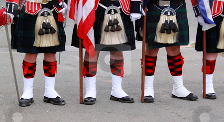 English Uniforms stock photo, English uniforms at the with their bright colors by Henrik Lehnerer