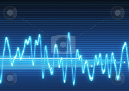 Electronic sine sound wave stock photo, Large image of an electronic sine sound or audio wave by Phil Morley