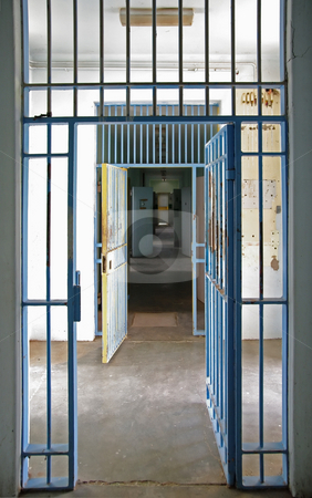 Prison cell stock photo, Great image inside an old prison by Phil Morley