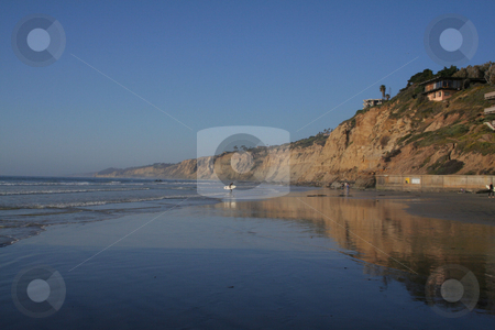 La Jolla, California stock photo, Low tide at beach in California by Greg Peterson